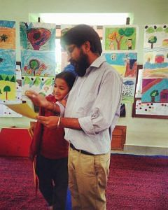 Sumit Arora with one of his students. (Source; Chirag School)