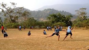 Khel Vikas team initiating a School Sports Program. (Source: Facebook/Pro Sport Development)