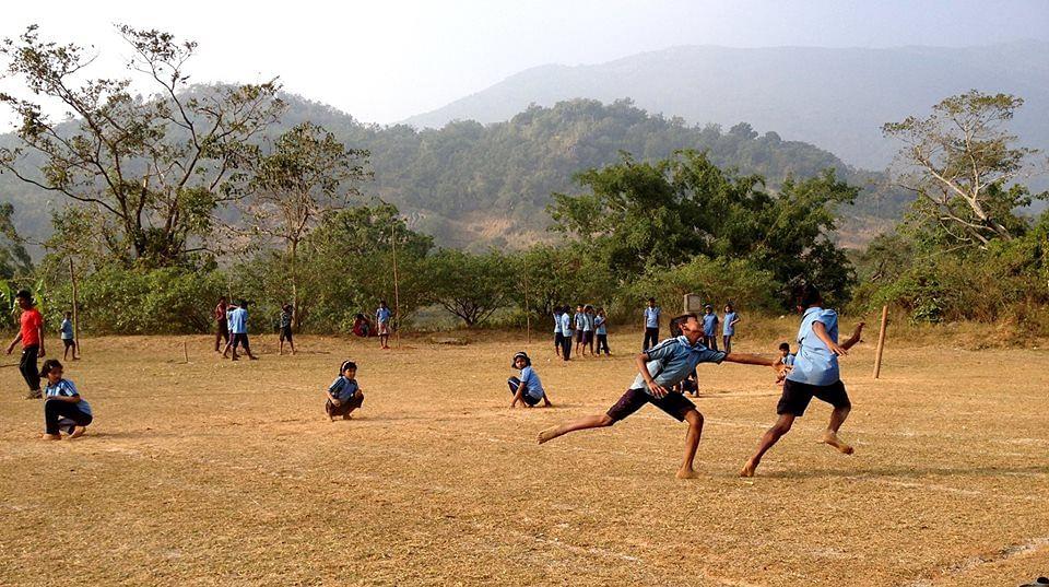Khel Vikas team initiating a School Sports Program. (Source: Facebook/Pro Sport Development)