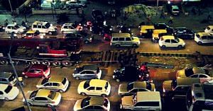 Traffic in Bengaluru. Picture Courtesy: Flickr.