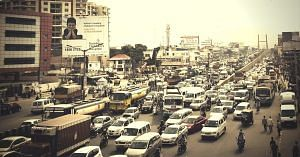 Traffic in Bengaluru. Picture Courtesy: Wikimedia Commons.