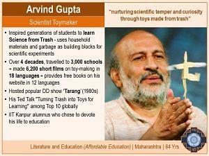 1 Arvind Gupta - Padma Shri 2018