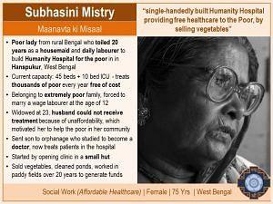 3 Subhasini Mistry Padma Shri 2018