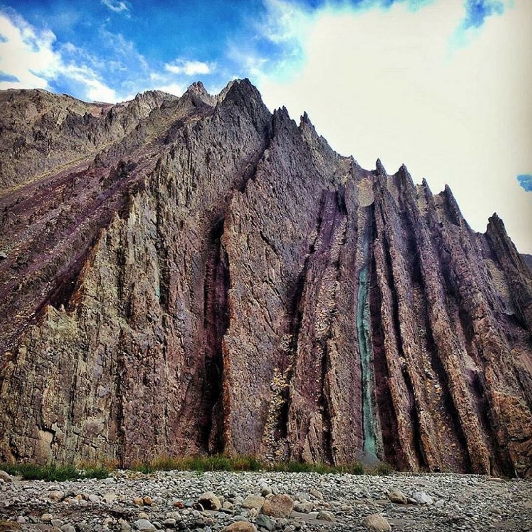 A beautiful rock formation, somewhere in Ladakh. Picture Courtesy: Instagram.