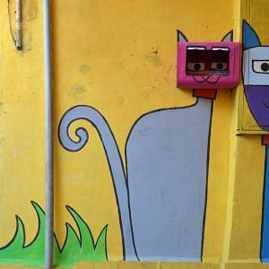A regular wall in Mumbai is completely transformed. Image Courtesy; Instagram