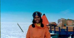 Aditi Pant, the first lady from India to go to Antarctica. Source.