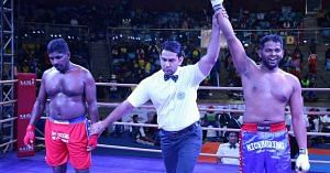 After beating cancer, Girish went back to taste victory in the ring. Image Courtesy: Facebook.