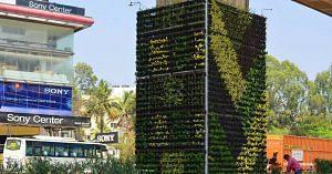 Delhi Metro vertical gardens