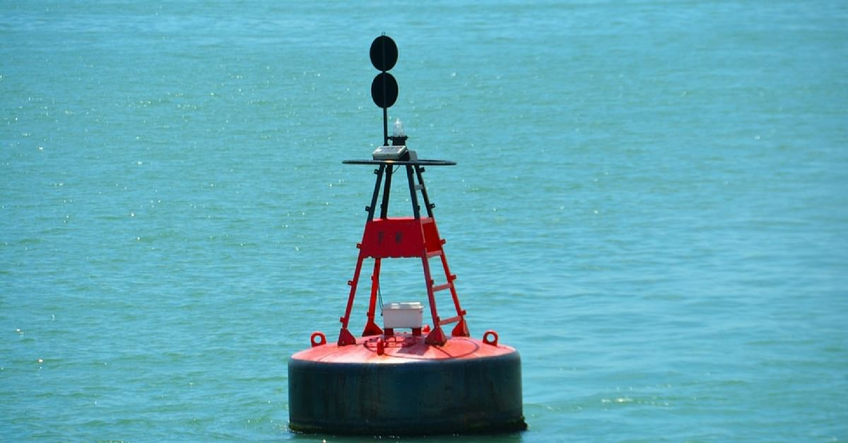Floating buoys in the ocean will keep track of pollutant levels, and other parameters in real-time. Representative image only. Image Courtesy. Pixabay.