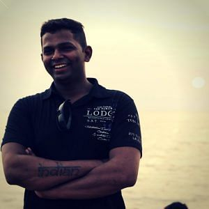 Girish Gowda started working at a young age, as a delivery boy. Image Courtesy: Facebook.
