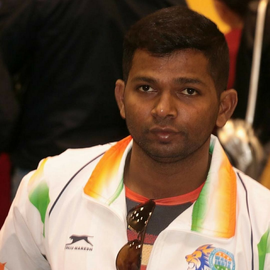 Girish, donning the national colours, for the World Championships. Image Courtesy: Facebook.