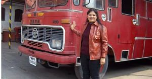 Harshini is the first lady in India to become a firefighter.