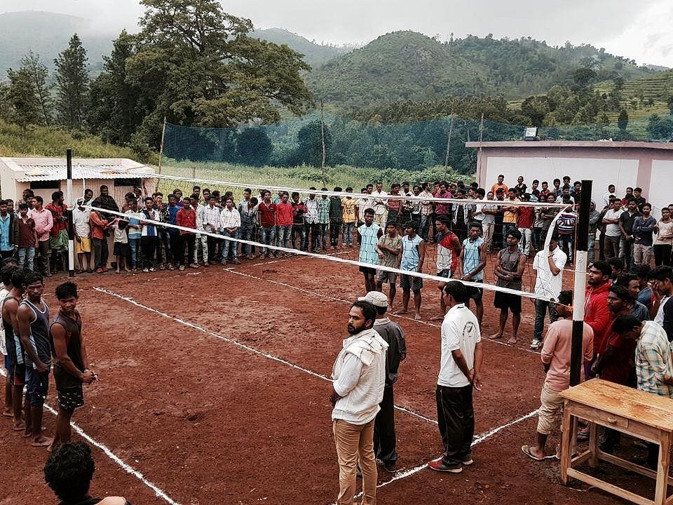 Playground constructed in Korrai panchayat of Dumbriguda mandal in Visakhapatnam district (Source: AP govt)
