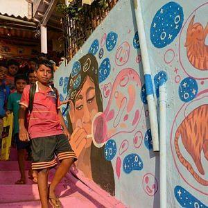 Mumbai, Imagine waking up to colourful happiness every morning. Image Courtesy: Instagram.