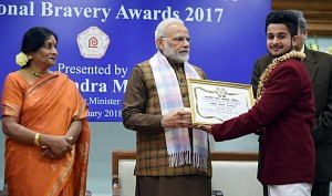 Karanbeer - National Bravery Awards kids