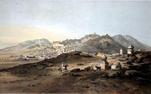 Leh, capital of Ladakh, crica 1857 (Source: Wikimedia Commons)