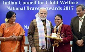 Nazia National Bravery Awards kids