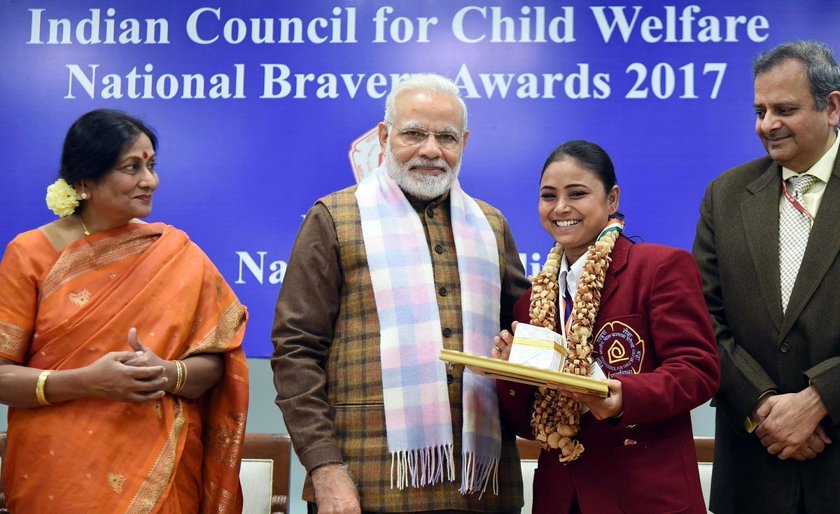 Nazia National Bravery Awards kids