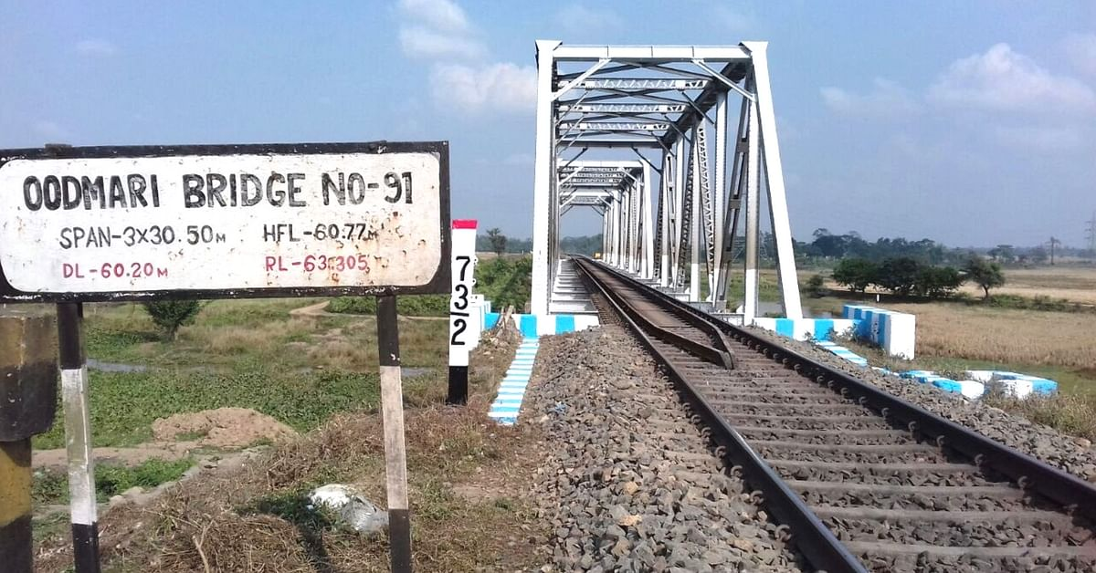 Oodmari Bridge, where the work was being carried out. Image Courtesy: Twitter.