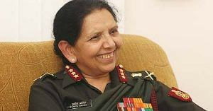 Punita Arora, the Lieutenant General to be felicitated by the President of India . Source: Facebook.