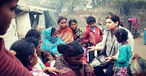 Ruhpreet is on a mission to create menstrual awareness among the women living in Patiala's slums.