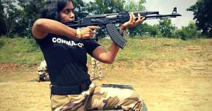 Seema Rao, the first lady in India to become a Commando. Source: Facebook