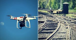 The Railways will use drones for track maintenance, among other things.Representative image only. Image Courtesy:Pixabay & Wikimedia Commons