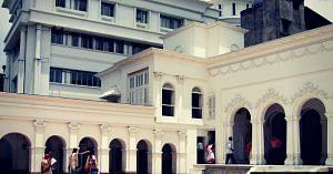 The massive courtyard, has two buildings. Image Courtesy: Vivekananda Home.