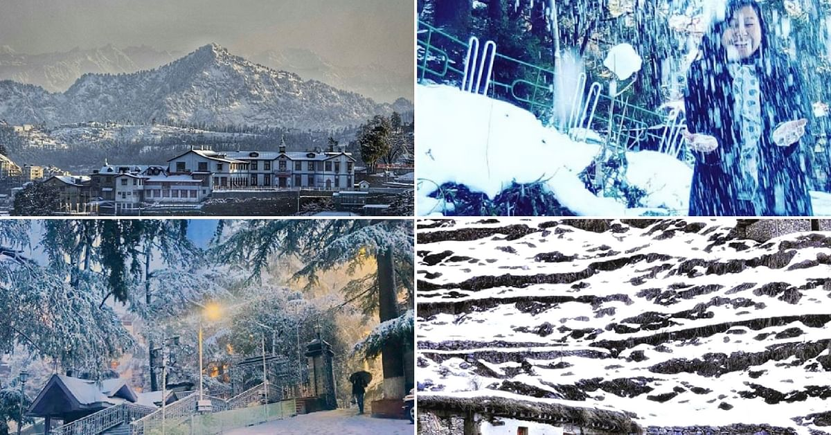 In Pics: Shimla's First Snowfall of the Year Will Take Your Breath Away