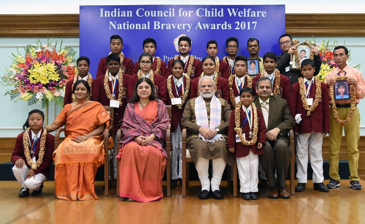 group pic - feature- National Bravery Awards kids