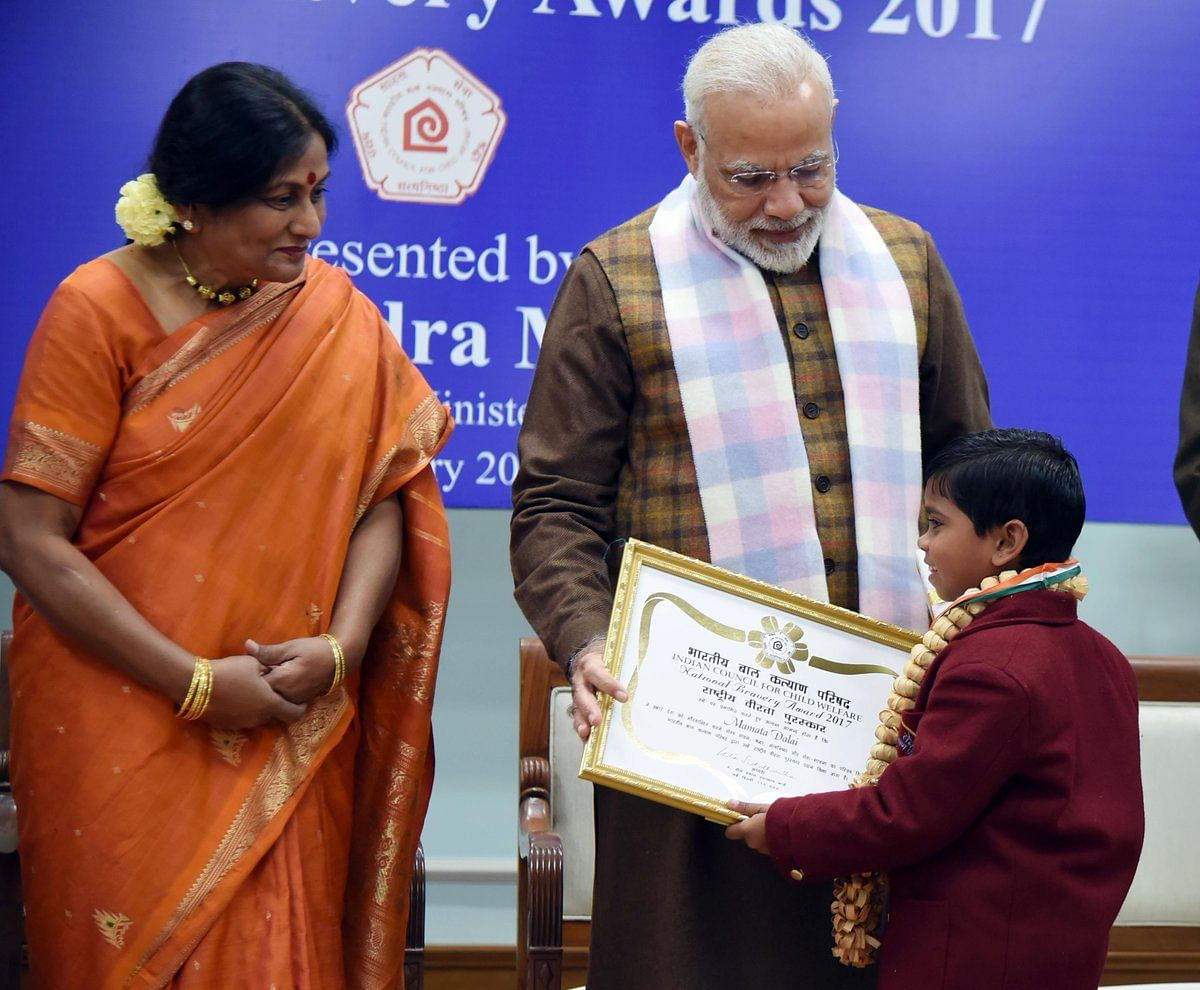 mamata Dalai - National Bravery Awards kids