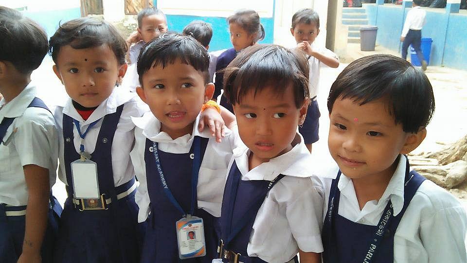 Young students at the Parijat Academy. (Source: Facebook/Parijat Academy)