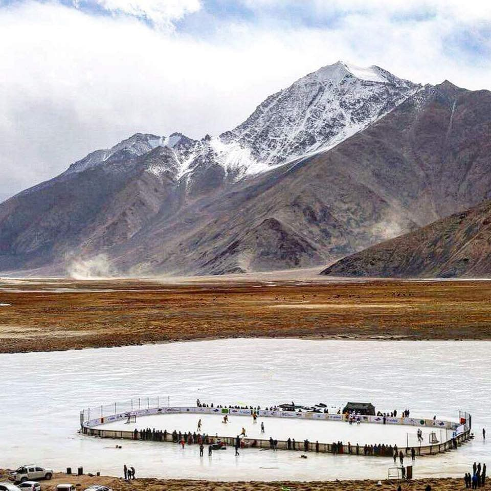 The world's highest ice hockey game was recently organized in Ladakh's Changthang region