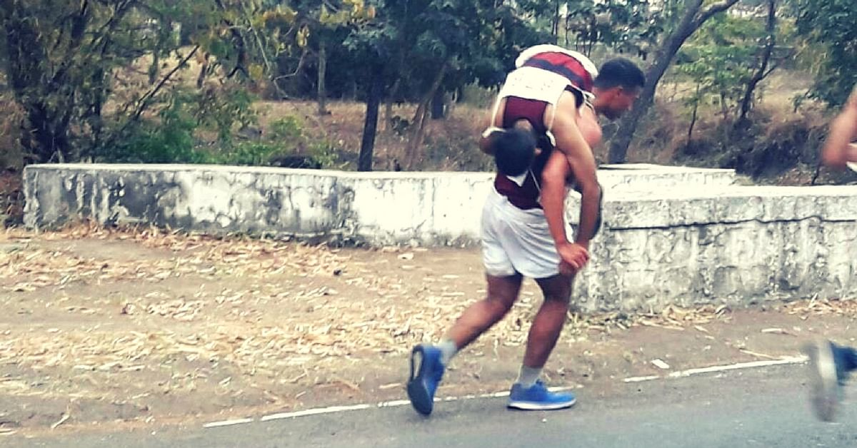 NDA Cadet Carries Injured Junior On Back To Help Him Finish Crucial Race!
