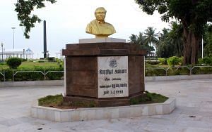 Anna Samadhi at Marina Beach, Chennai. (Flickr/Nagarjun Kandukuru)