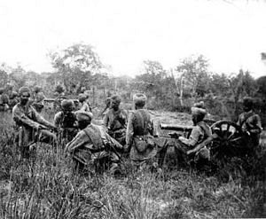 Indian soliders fighting the 1947 war. (Source: Wikimedia Commons)