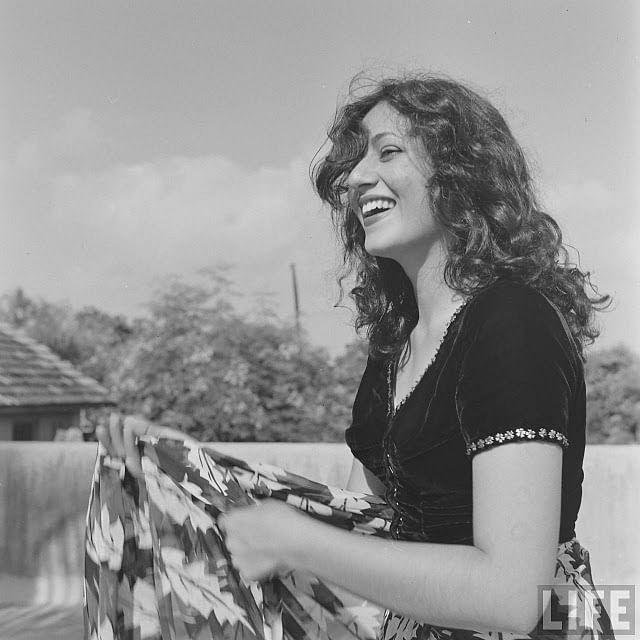 Madhubala during a photo shoot for Life Magazine.