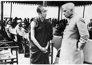 File photo of Bakula Rinpoche with India's first Prime Minister Pandit Nehru. (Source: Sonam Wangchuk)