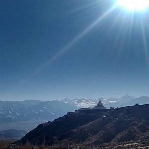 Shanti Stupa from a distance (Source: Facebook/Gyatso Tundup)