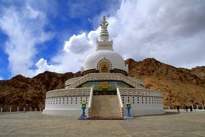 Shanti Stupa (Source: Wikimedia Commons)