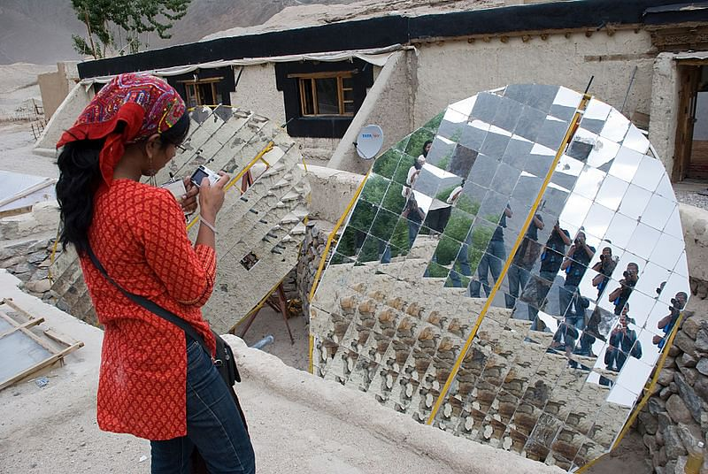 Solar cooker in Leh. For representational purposes. (Source: Wikimedia Commons)