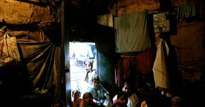 Sunlight is a luxury, inside the small, cramped interiors of a slum house.Representative image only. Image Courtesy: Wikimedia Commons.
