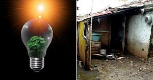 The interior of a slum home rarely receives adequate sunlight. This solar-powered device, can dispel the darkness.Representative image only. Image Courtesy: Wikimedia Commons