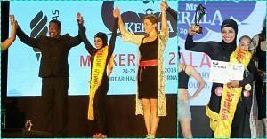 Kerala women bodybuilder in Hijab
