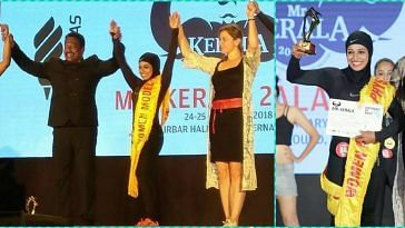 Kerala women bodybuilder in Hijab
