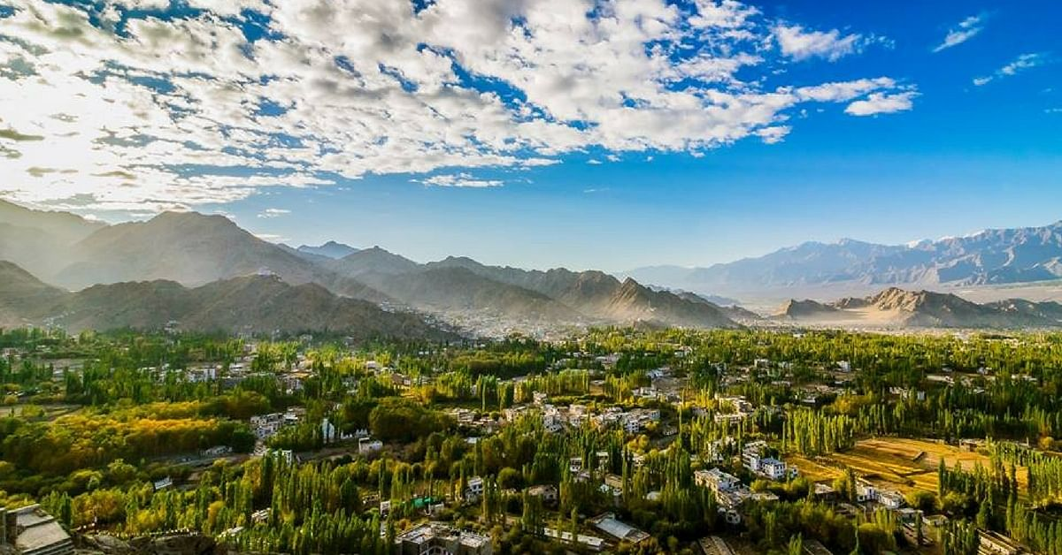 View of Leh from the Shanti Stupa (Source: Facebook/Mahesh Magee)