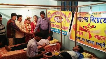 bengali couple blood donation