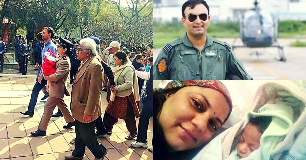major dogra army martyred husband funeral baby