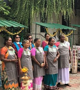 Women entreprenuers at ECO Kitchen. (Source: Sodexo)