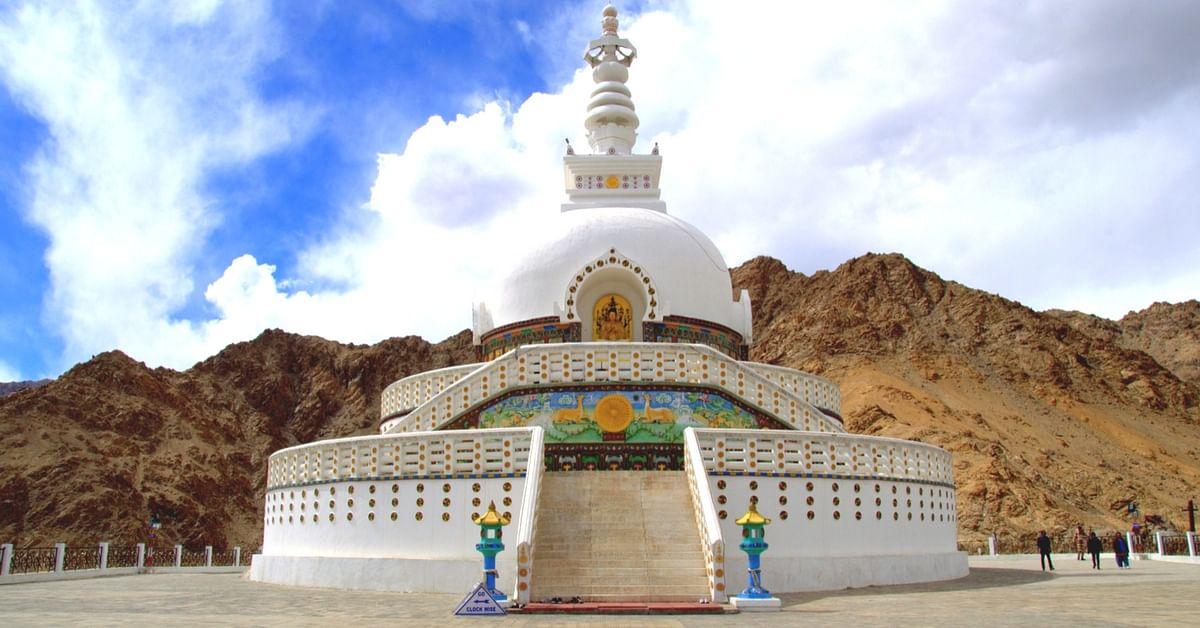 Shanti Stupa (Source: Wikimedia Commons)